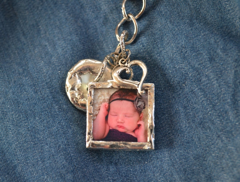 Custom Silver Solder New Baby Charm Bracelet Personalized image 0