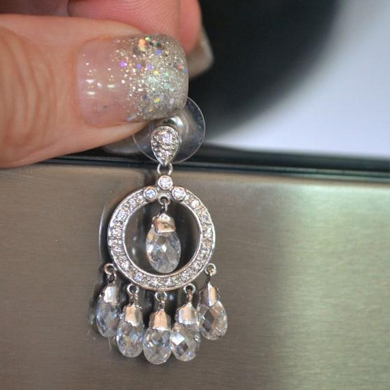 Diamond Earrings, Crystal Earrings, Wedding Dress