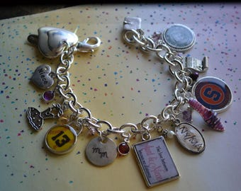 Custom Name, Custom Photo Frame, Custom Photo, Custom Photo Gifts, Photo Album, Photography, Charms, Charm Bracelet, Sterling Silver Charms