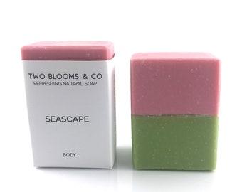 Grapefruit mint soap - Seascape soap - vegan soap - palm free soap - soap victoria bc canada