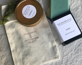 Soap and candle set - Gift set Victoria Vancouver Island BC