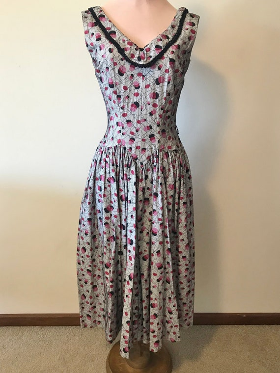 True Vintage Spiderweb Fit and Flare Dress