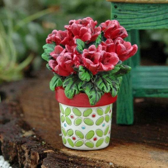 Miniature Merriment Potted Geraniums Fairy Garden Etsy