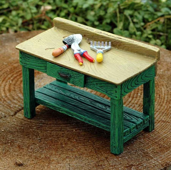 Astonishing Merriment Miniature Potting Bench With Tiny Tools Fairy Garden Accessory Miniature Mary Engelbreit Merriment Fairy Garden Collection Ncnpc Chair Design For Home Ncnpcorg