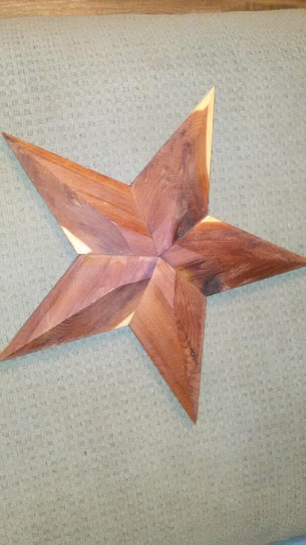 Cedar Wood 3d Stars