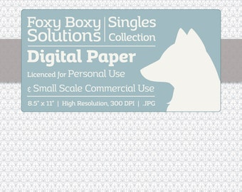 Small Facets Digital Paper - Single Sheet in White and Gray - Printable Scrapbooking Paper