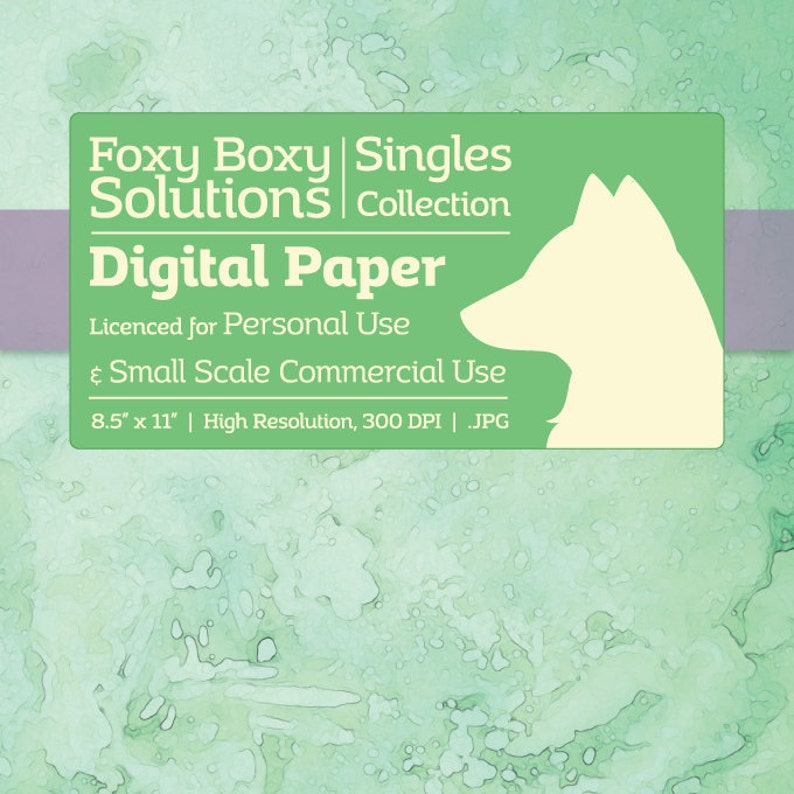 Green Travertine Stone   Single Sheet Printable Scrapbooking image 0