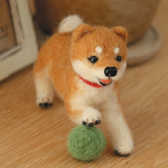 Shiba Dog Hamanaka Felt Wool Mascot Wool Felt Kit Designed by Sachiko Susa H441-266