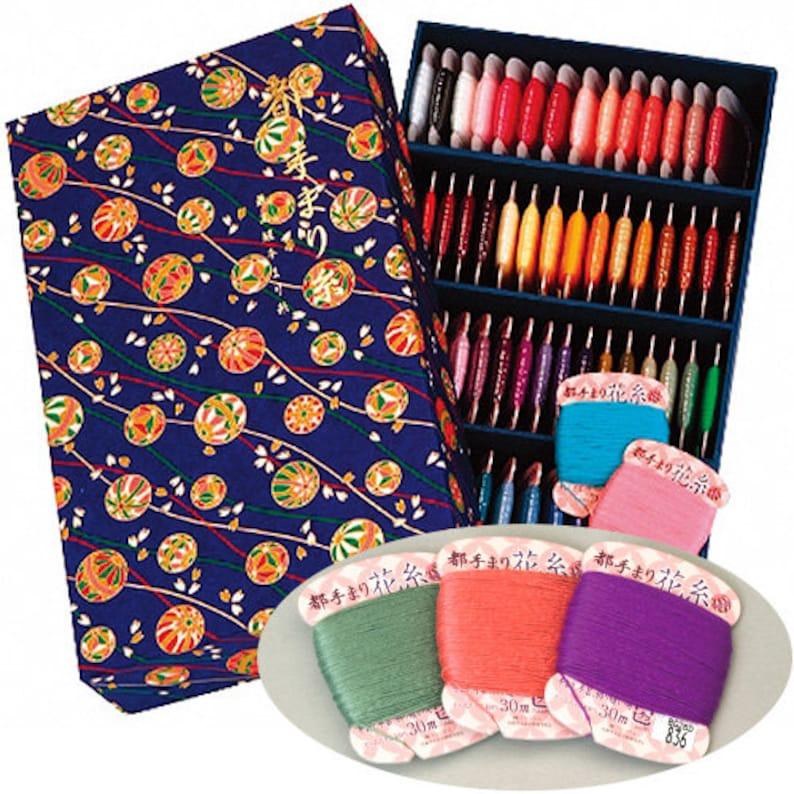 MIYAKO TEMARI decoration thread 75 Colors Set (30 Meters Each)
