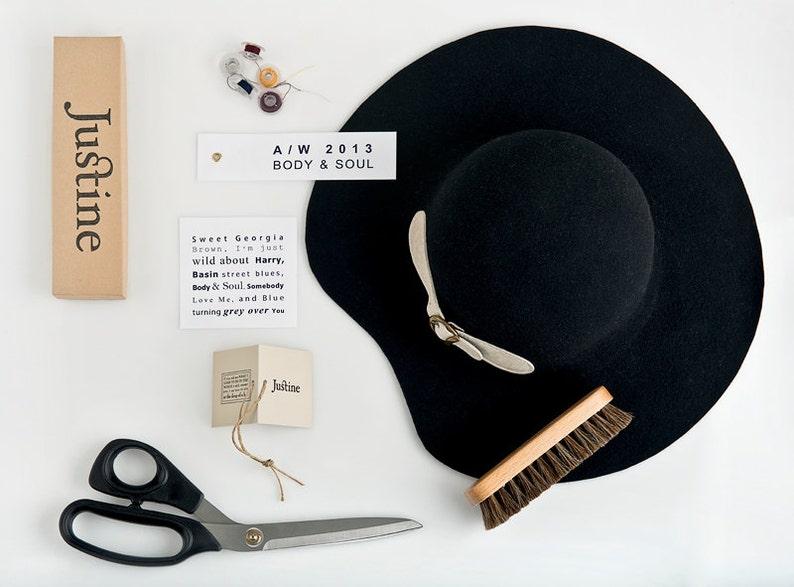 HAT ON SALE Black Fedora Hat Womens Felt Fedora Hat Wide  0d90be07085e