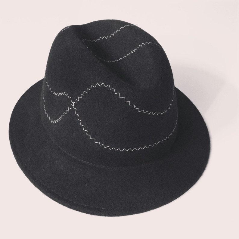 4b31e2a7958 Men felt fedora hat Hand crafted fedora hat Classic fedora