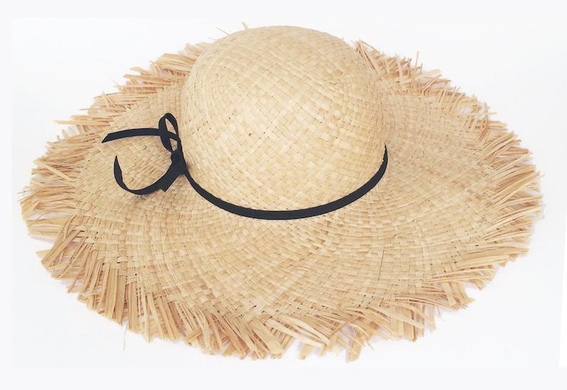 a01ea324e Szerokim rondem letni kapelusz słomy rozwikłać kapelusz | Etsy