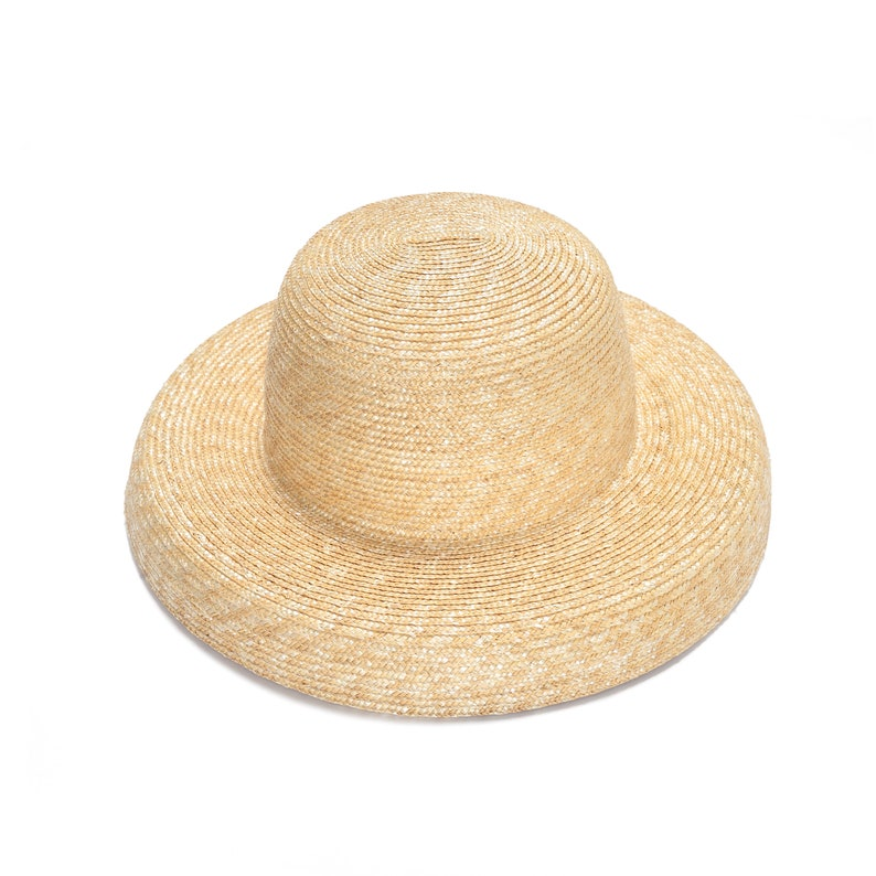 b0ae4122d8cea Unique Straw Cloche Hat Hat For Women Summer Straw Hat Etsy
