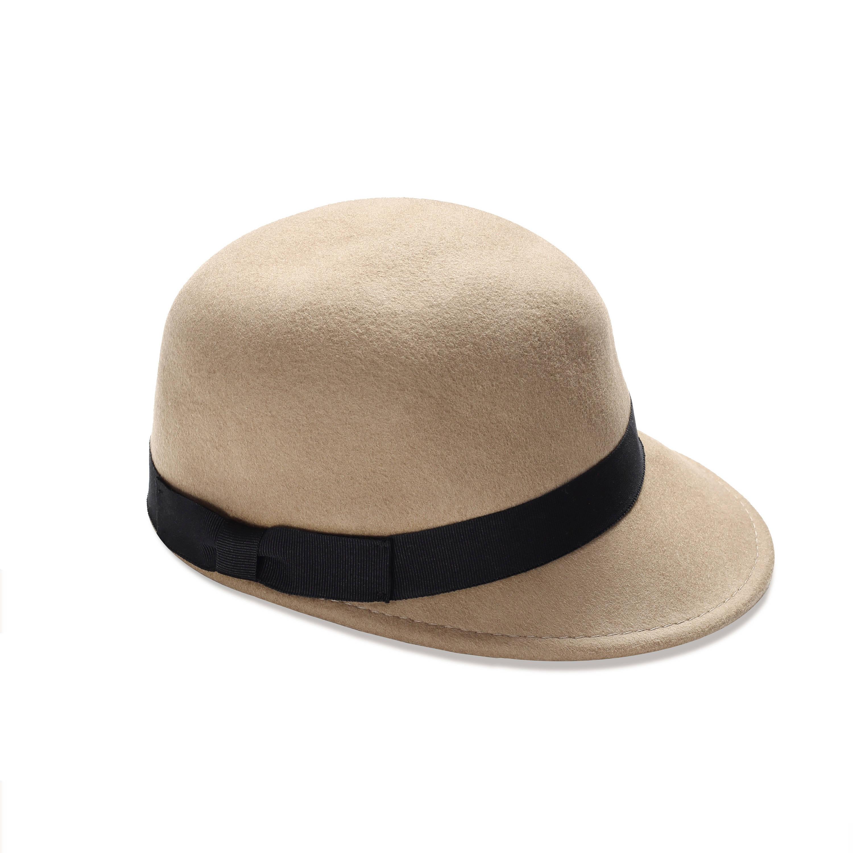 41a7800a9 Beige fieltro casquillo sombrero del casquillo clásico para | Etsy