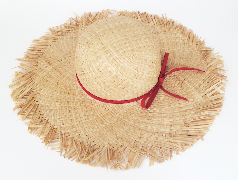 253dc051eddae6 Wide brim summer straw hat Women sun hat Beach hat straw | Etsy