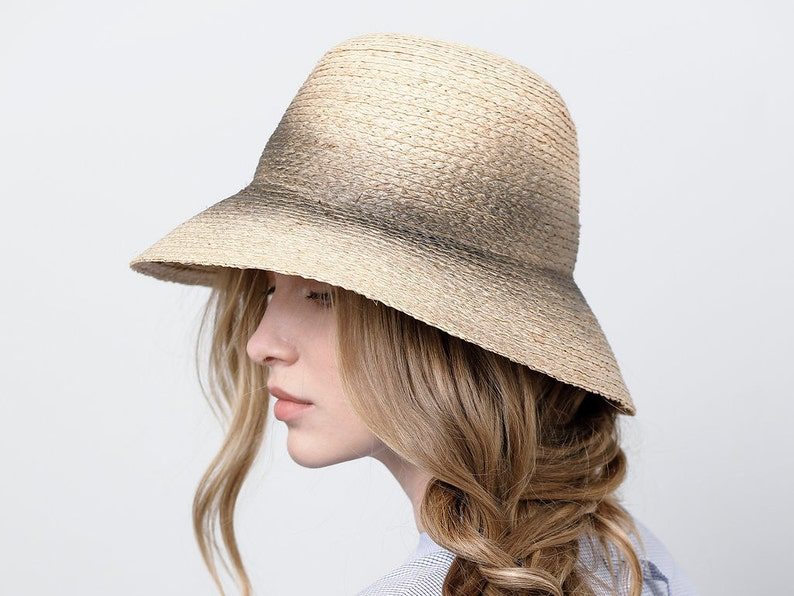 b2229a700757b Straw cloche hat for women Classic cloche hat Summer cloche
