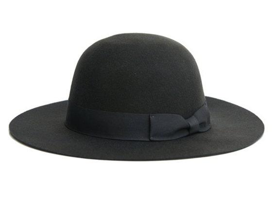 bcb1444fa3f042 Dark gray felt hat / Women Classic hat / felt cloche hat / | Etsy