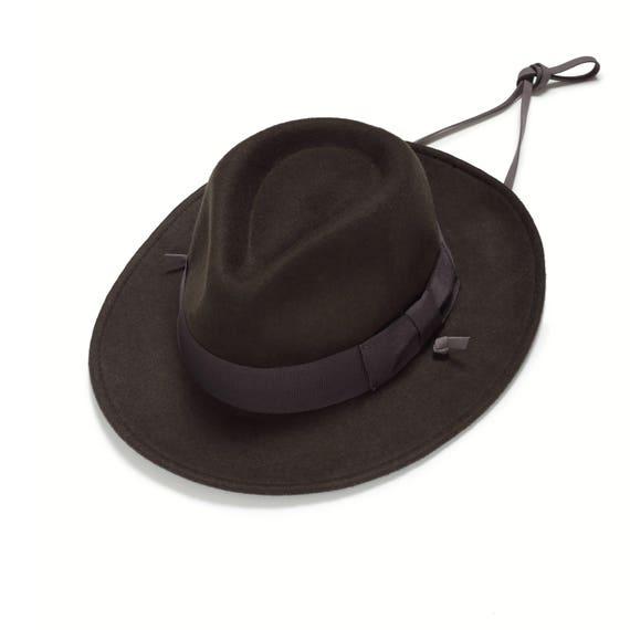 Marina de guerra de fieltro sombrero Fedora hombres sombrero  da31ff89a2d