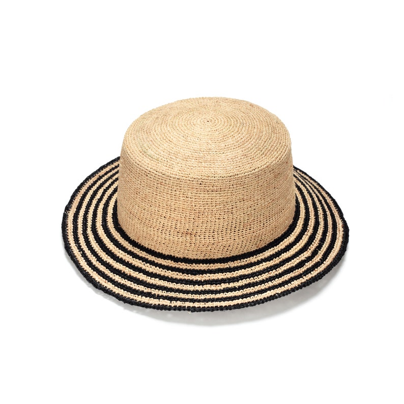ec3198d6d5bf9 HATS ON SALE Fashionable chic raffia straw hat with black