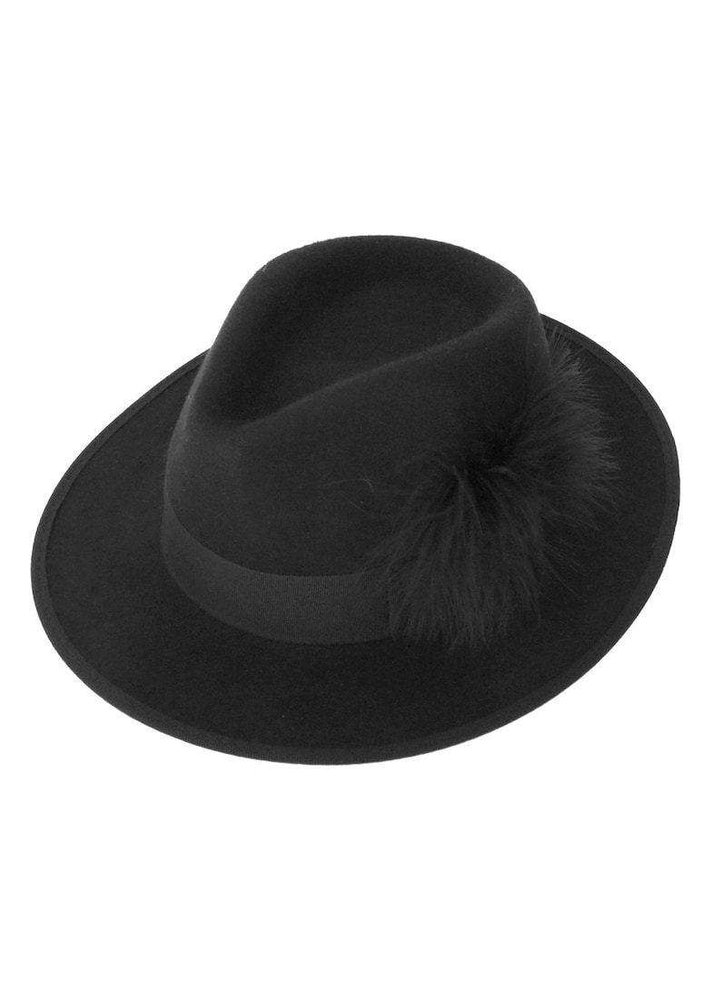 a5e3fdce4fbf0 Fashion Black Fedora Hat With Feathers fedora hat Womens
