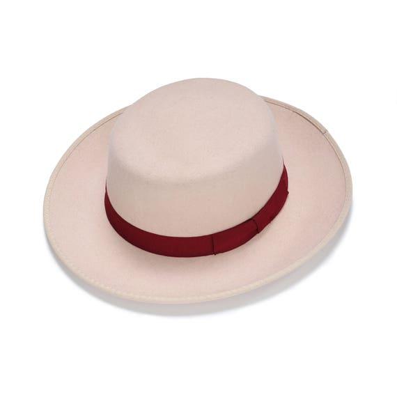 Classic Fedora Hat Light Pink Hat Womens Felt Hat  5e460a2e588