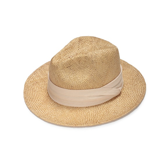 Fashionable fedora straw hats with cotton band Straw hat for  be642a5d901