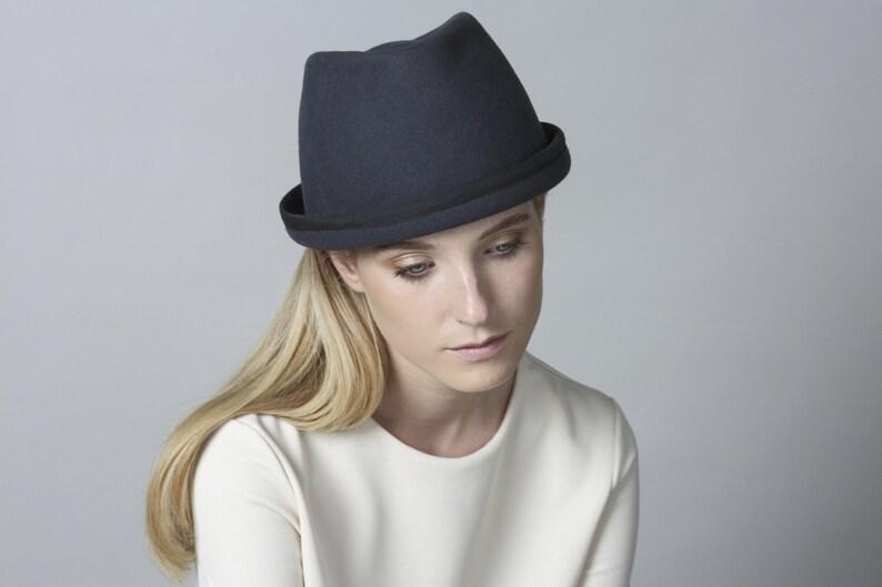 bd70aa3b6e2 Fashionable Fedora Hat Winter Hat Women's Hat Felt | Etsy
