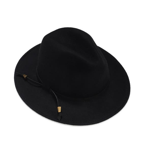 4ddd460ad Black Fedora Hat for women and for men , Wide Brim Fedora Hat , Mens Hat ,  Winter Hat , Millinery Hand Crafted Hat , Womens Fedora Hat