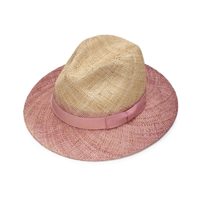 f3fbb87e5f3ee Pink fedora hat summer straw hat wide brim sun hat