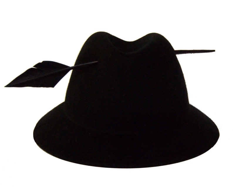 ef395814b2093 Black Unique Fedora Hat with a Feather Fashionable Felt Hat