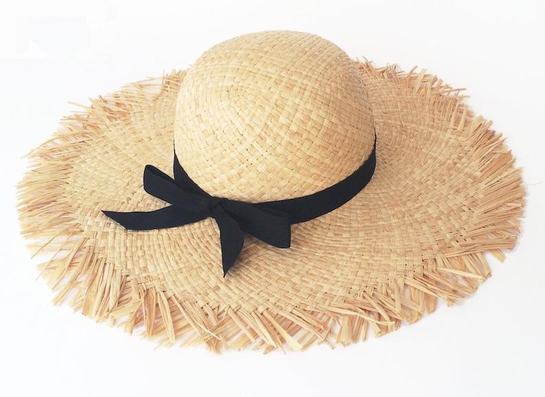 acfe6fc2fbc38 Womens wide brim summer straw hat Floppy sun hat Women