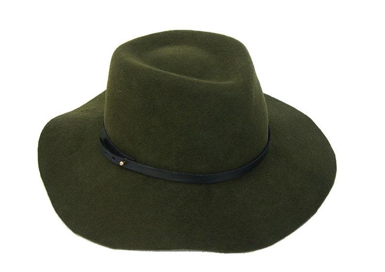 15056de5de45c Floppy Fedora Hat   Green Navy Fedora Hat   Womens Hat   Mens