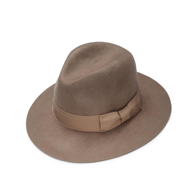163740383468ba Beige classic felt fedora hat womens felt fedora hat | Etsy