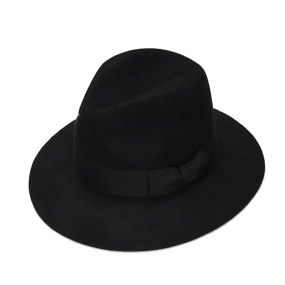 Black classic felt fedora hat womens felt fedora hat  896d9b189d6