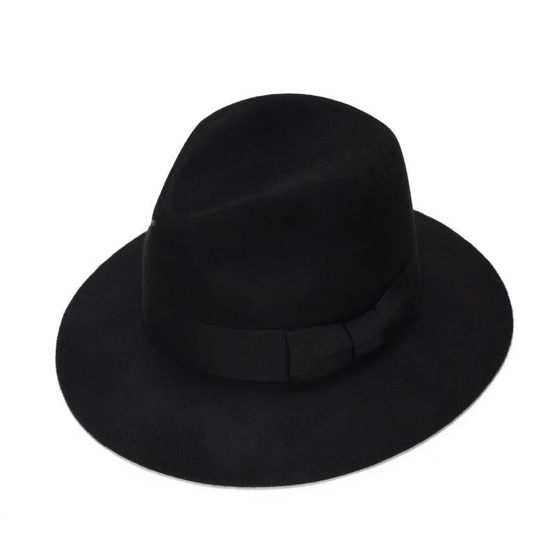74e683946220b Black classic felt fedora hat womens felt fedora hat