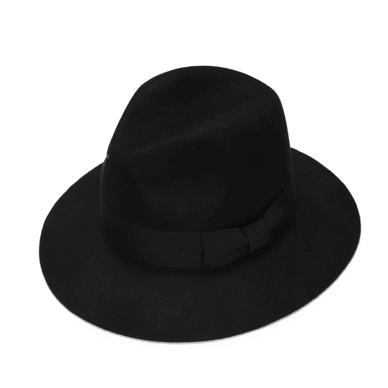 e19531839 Black classic felt fedora hat , womens felt fedora hat , winter felt fedora  hat, wide brim fedora hat , hats for women , gray hat