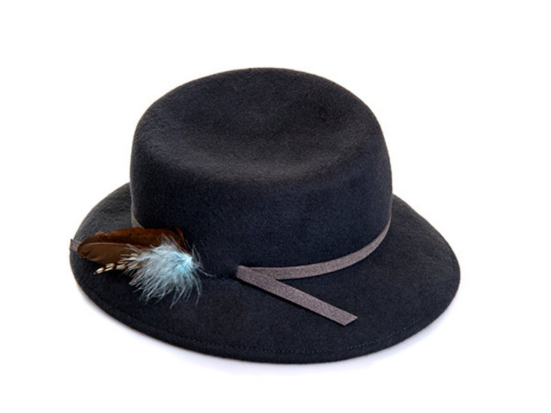 Felt Hat For Men   Women Felt Hat With Feather Custom Felt  9755262b5873