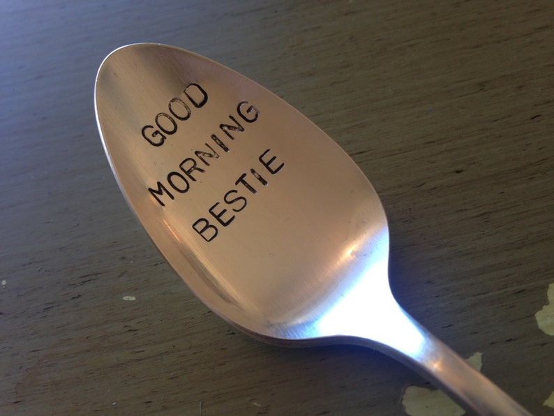FOREVER Hand Stamped Silver plated spoon This spoon says it all for your bestie!