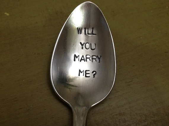 Maid Of Honor    Recycled  vintage silverware hand stamped spoon