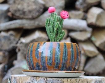 77 Pitch Pine Pottery Art Nouveau Stoneware Planter - Waterfall