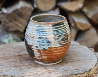 18 Pitch Pine Pottery Art Nouveau Stoneware Wine Cup -  Opal Planet - 16 oz
