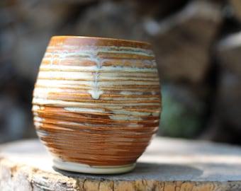 62 Pitch Pine Pottery Art Nouveau Stoneware Wine Mug - Cappuccino 16 oz
