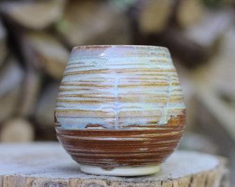 5 Pitch Pine Pottery Art Nouveau Stoneware Wine Cup -  Opal - 16 oz
