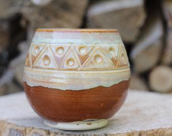 30 Pitch Pine Pottery Art Nouveau Stoneware Wine Cup -  Opal - 18 oz