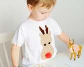 Matching Christmas shirts for kids, Reindeer shirt, Christmas shirt, Gift for kids, Unique Christmas shirt, Xmas tee, Sibling shirt set