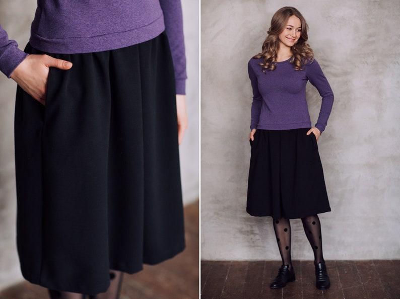 980f3282351f Midi Dress with pockets warm long sleeve dress purple