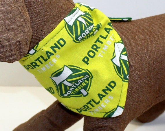 Dog Bandanas, Made with Portland Timbers Fabric, Tie On Perfect Fit - bandana for dogs.