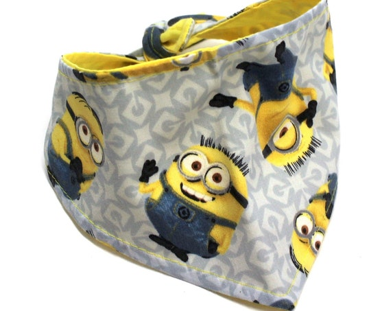 Dog Bandana, Made with Minions Fabric, Bandanas Scarves for Dogs