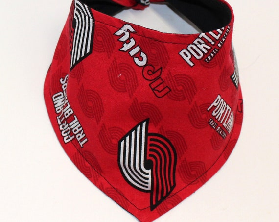Dog Bandana, Made with Portland Trailblazers Fabric, Tie On