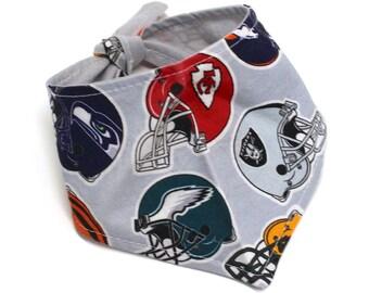 Dog Bandana, Football Helmet Print NFL Teams Fabric